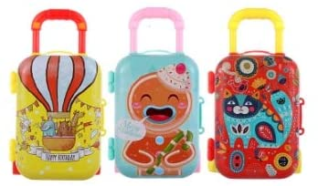 3pcs Toys Travel Train Suitcase Luggage Case Doll Dress Storage Case for Doll