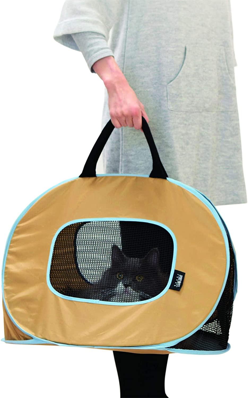 Necoichi Portable Ultra Light Cat Carrier, Happy Cats, Happy Travel! Always Ready to go!