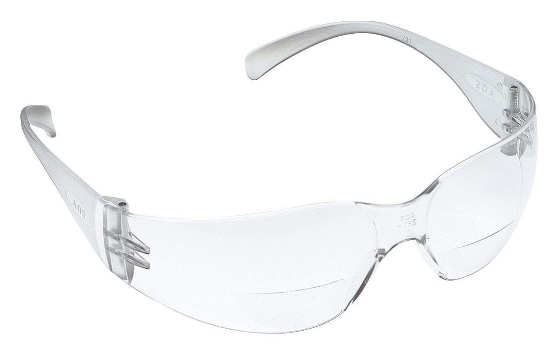 3M 11513-00000-20 Virtua Reader Protective Eyewear, Clear Anti-Fog Lens, Clear Temple, 1.5 Diopter