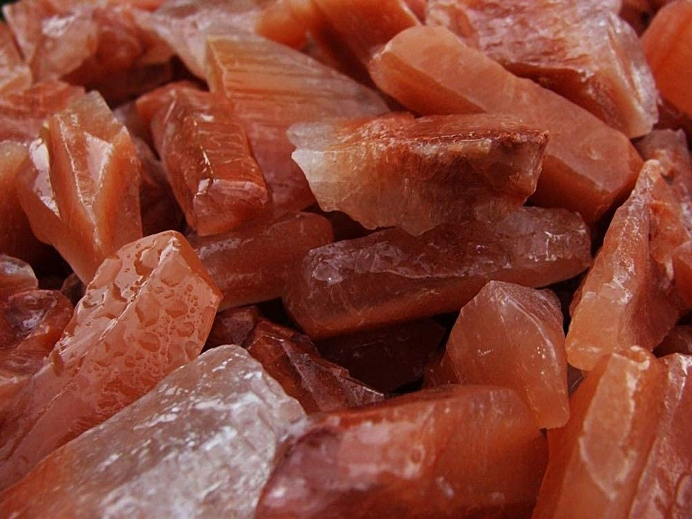Spk Bulk Raw Rough Natural Gem Stones Unsearched Natural Red Calcite for Specimens Polishing Tumbling Cabbing