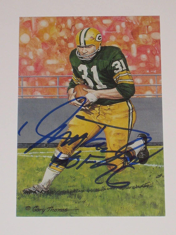Jim Taylor Green Bay Packers Autographed Goal Line Art Card #3146/5000 (JSA COA)