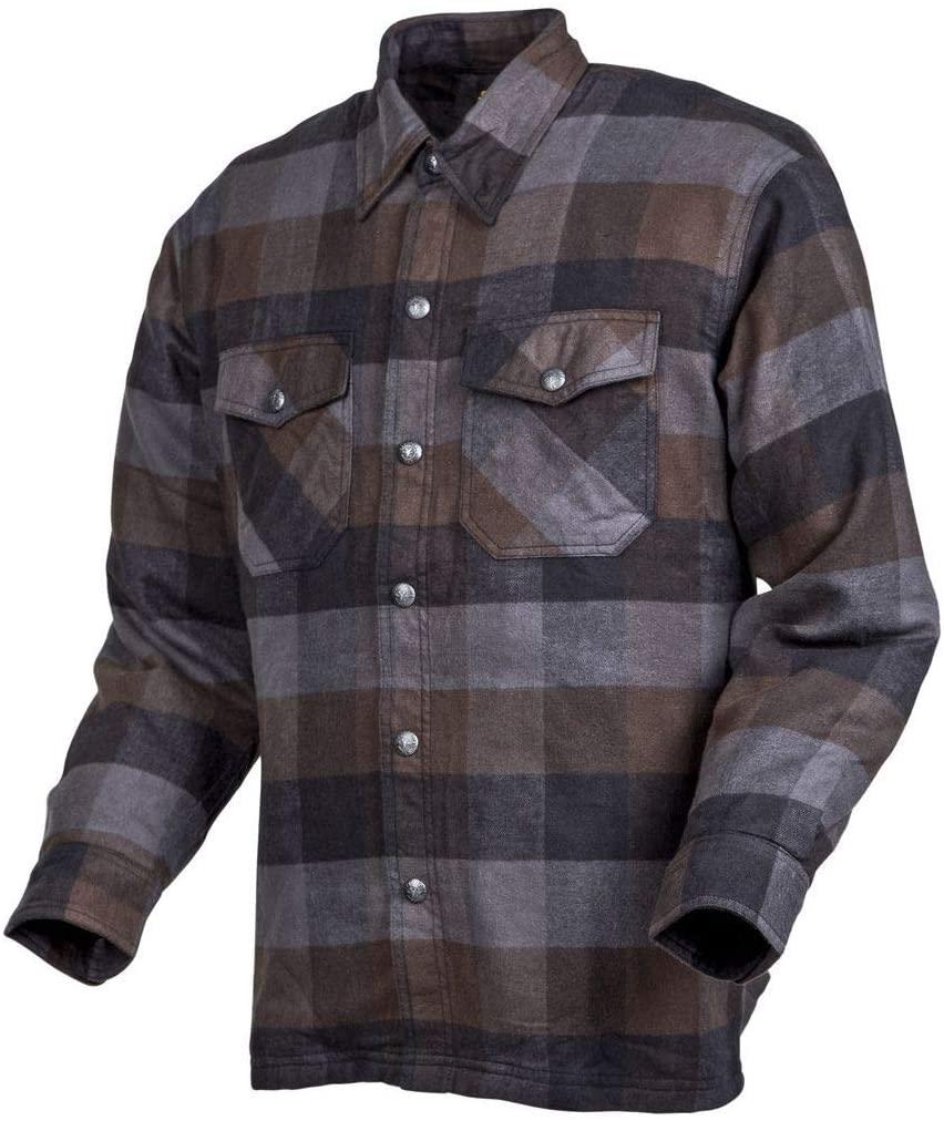 Scorpion EXO Covert Flannel Shirt (X-Large) (Black/Brown/Grey)