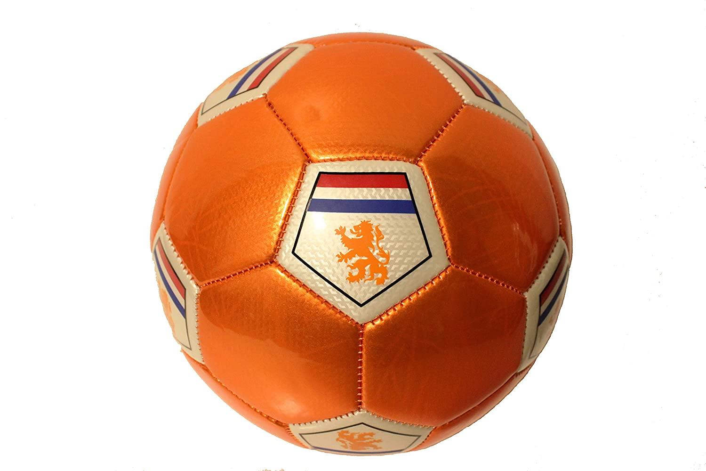 Nederland Country Flag, KNVB Logo Orange Soccer Ball .Size 5. New