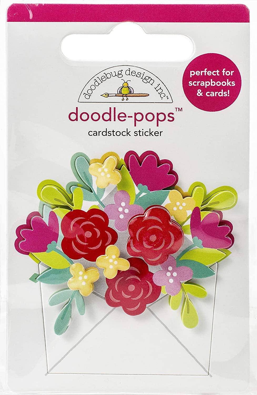 DOODLEBUG DESIGN INC. 6579 Doodle-POPS 3D STCKR, Sending Love, Love Notes