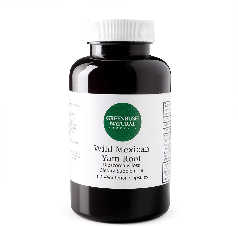 Greenbush Wild Yam Root | 575 mg, 100 Capsules | Womens Reproductive Health, PMS, Cramps, Hot Flashes