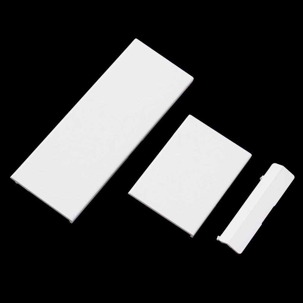 iconicstore 3 pcs White Door Slot Cover Bezel Lid Part for Nintend Wii Console System White