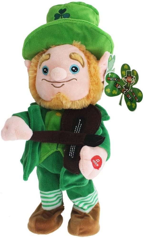 Dancing Leprechaun Dancing Fiddle Play - St Patricks Day - Irish Gifts