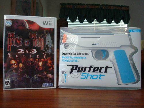 Nyko Perfect Shot Gun & House Of The Dead 2 & 3 Return For the Nintendo Wii