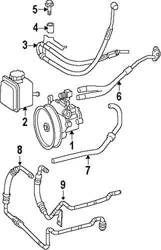 Mercedes-Benz 251 460 02 24, Power Steering Return Hose