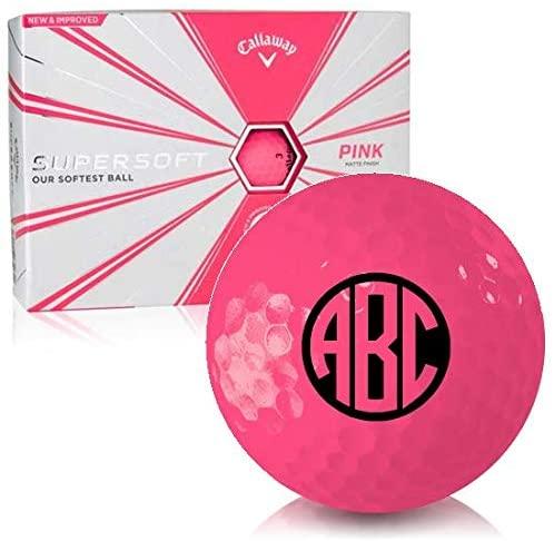 Callaway Golf Supersoft Matte Pink Monogram Personalized Golf Balls