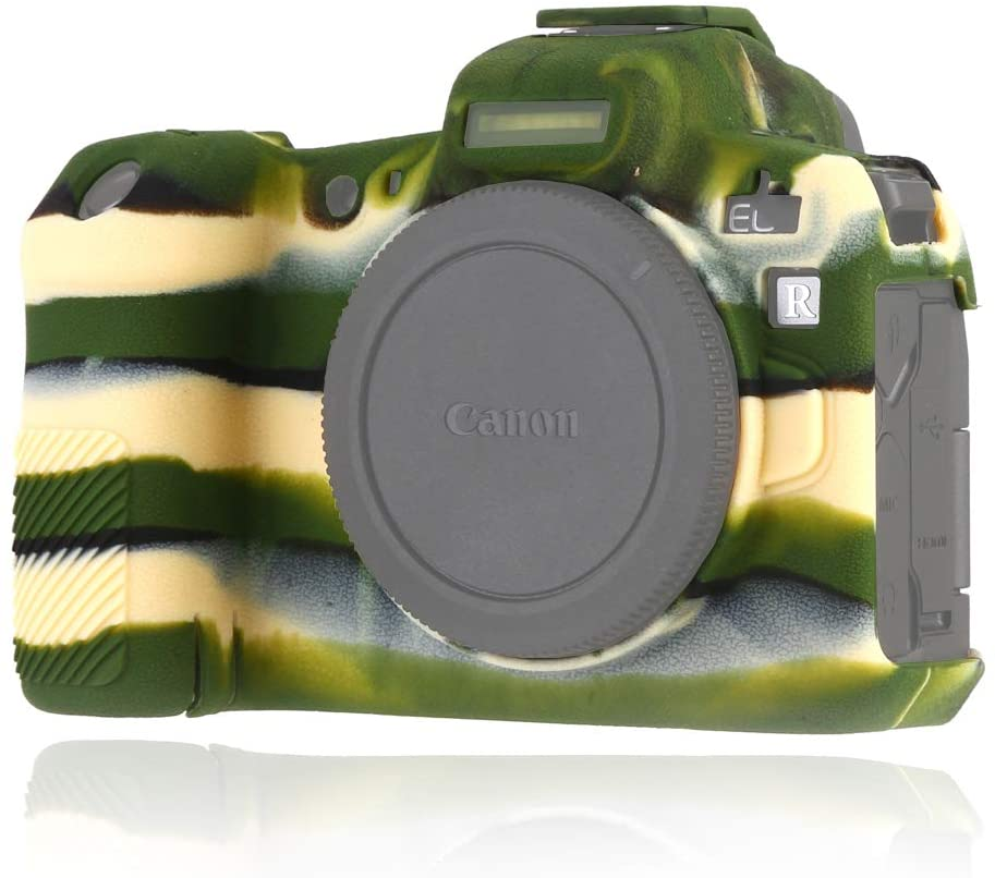 Easy Hood Case Compatible with Canon EOS R Digital Camera, Anti-Scratch Soft Silicone Rubber Housing Case Shell Protective Cover Skin Protector Guard Shield (Camo)