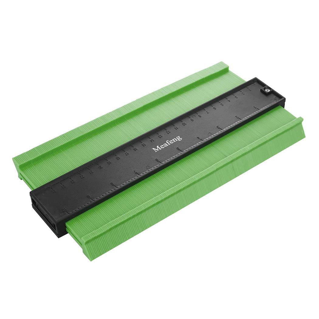 Upgraded Contour Gauge 10 inch Plastic Profile Duplicator Tool for Copy Irregular Shape (+50% in Measurement Depth)(Green)