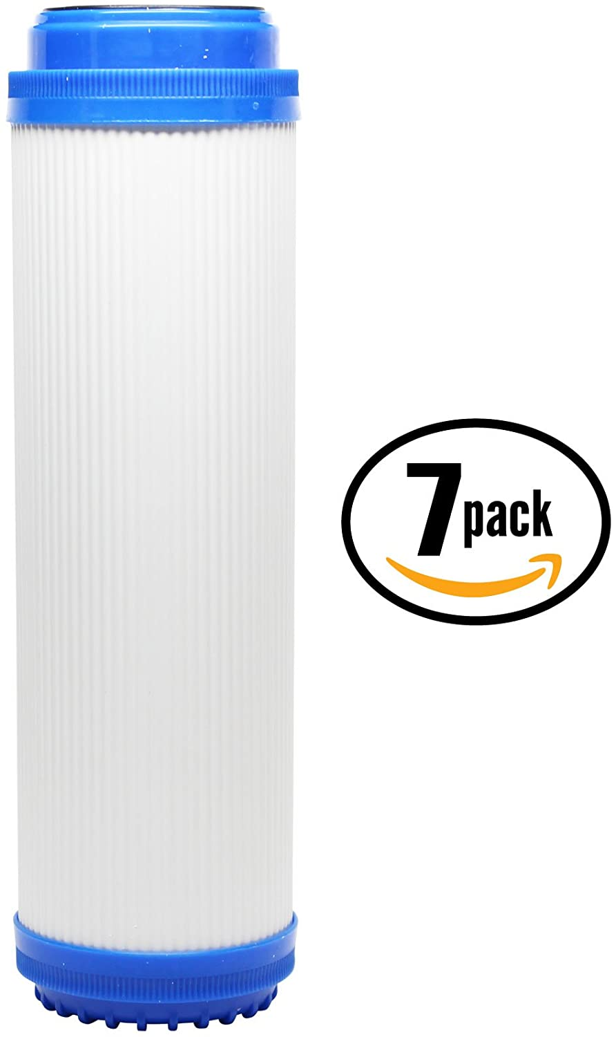 7-Pack Replacement for Hydronix HF3-10BLBK38 Granular Activated Carbon Filter - Universal 10-inch Cartridge Compatible with Hydronix HF3-10BLBK38 10