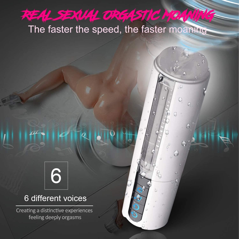 Smart Heating Electric Blow-Job Men Deep Throat Sucking Oral Cup Vibrating Masturbator Cup Automatic Male Masturbation Man Toy Hands Free Underwear for Men Bedroom Outdoor