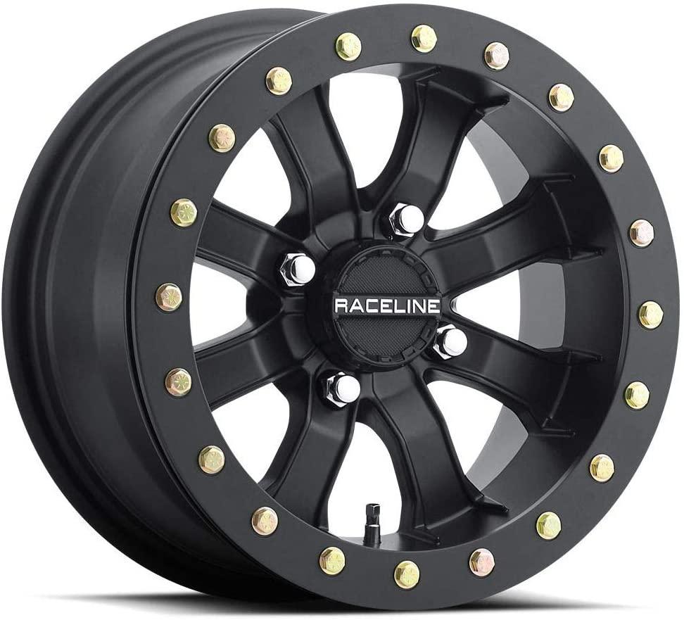 Raceline Mamba Blackout Beadlock Wheel (Front/Rear / 14X8 / 4/156 4+4) for 14-19 Polaris RANRZR1000XE
