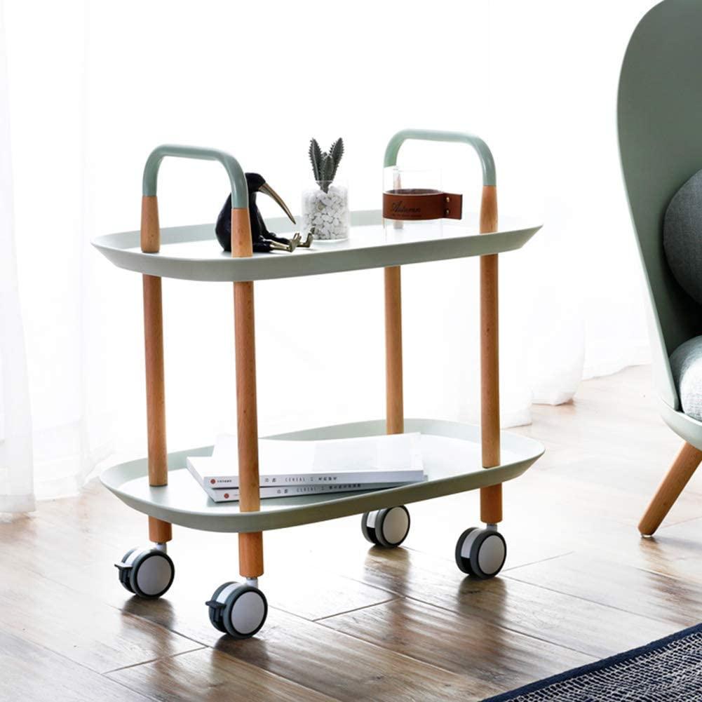 Storage Trolleys 2-Tier Rolling Service Trolley, Dining Room Bedroom, Multi-Functional Practical Tea Truck