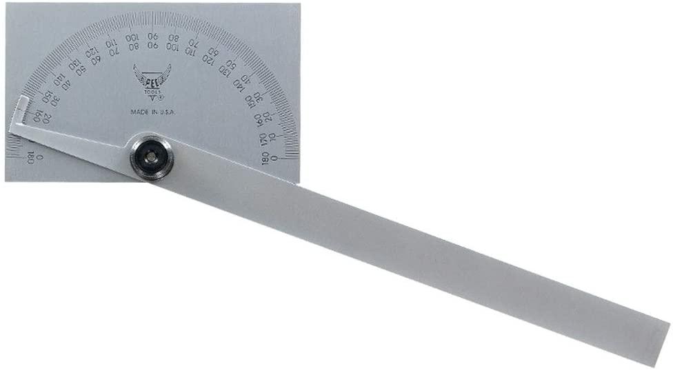 PEC 5170 0-180° Rectangle Protractor w/6