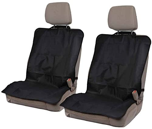 On-The-Go Waterproof Car Seat Protector (2 Pieces) – Heavy Duty Black Oxford Fabric Seat Cover for Car, Truck and SUV