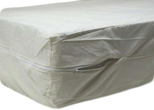 Excellent 100% Cotton Fleetwood Cotton Mattress Cover, Full Size, Zips Around The Mattress