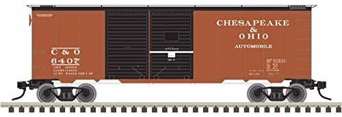 Atlas #50003646 N Trainman 40' Double Door Box Car, Chesapeake & Ohio 6415