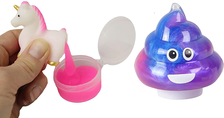 Curious Minds Busy Bags Unicorn Poop Slime Pack of 2 - Slime Sucker Poop - / Putty / Slime / Ooze