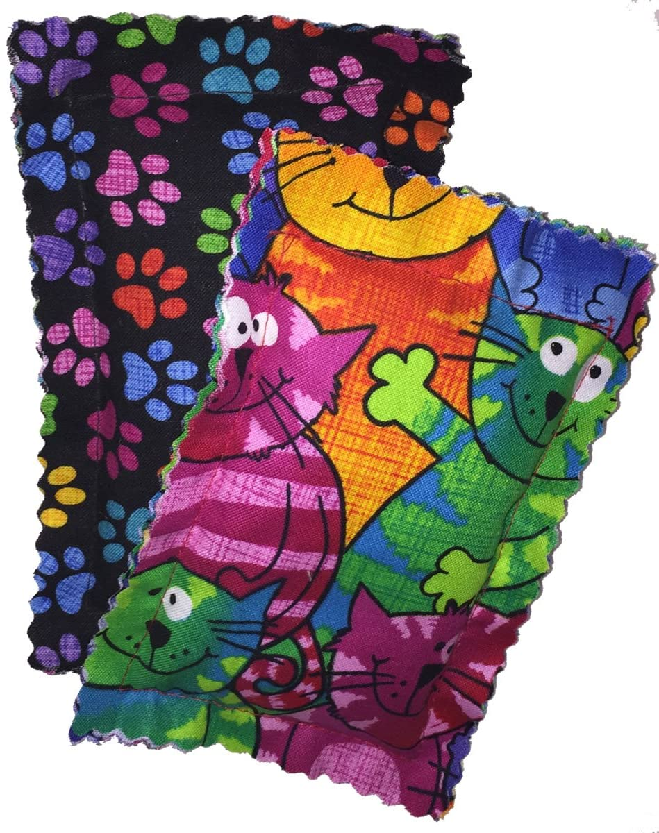 Johnson Pet Products Catnip Pillow Sacks Two Pack Crazy Cat II - Handmade in The USA
