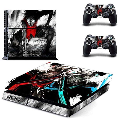 Playstation 4 Skin Set – Pirate anime - HD Printing Vinyl Skin Cover Protective for PS4 Console and 2 PS4 Controller by Mr Wonderful Skin