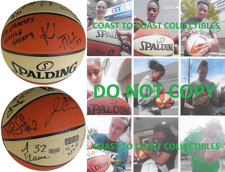 2018 Seattle Storm team signed autographed WNBA basketball COA proof Sue Bird