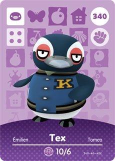 Tex- Nintendo Animal Crossing Happy Home Designer Series 4 Amiibo Card -340