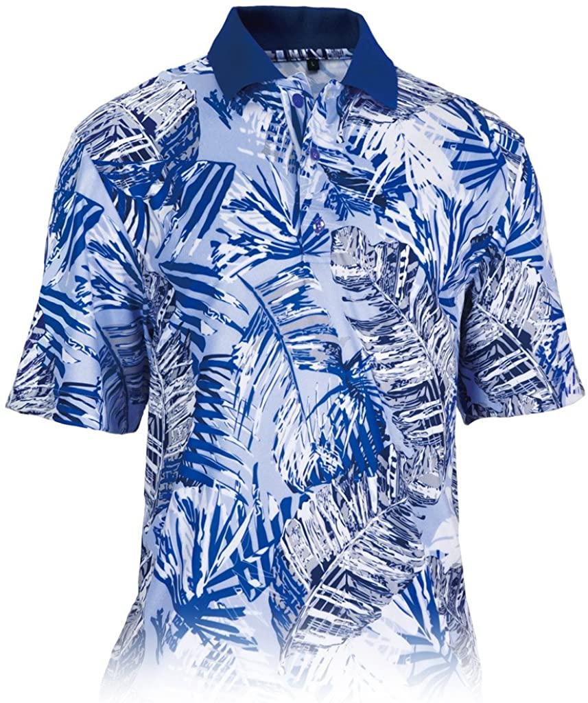 Monterey Club Mens Grand Paradise Print Polo Shirt #1536