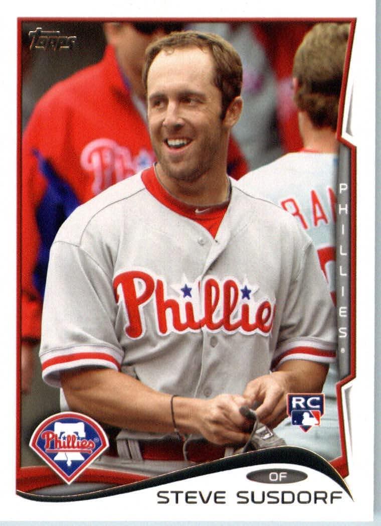 2014 Topps Baseball Card # 498 Steve Susdorf - Philadelphia Phillies RC