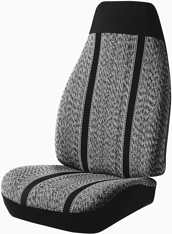 Fia TR48-33 BLACK Custom Fit Front Seat Cover Bucket Seats - Saddle Blanket, (Black)