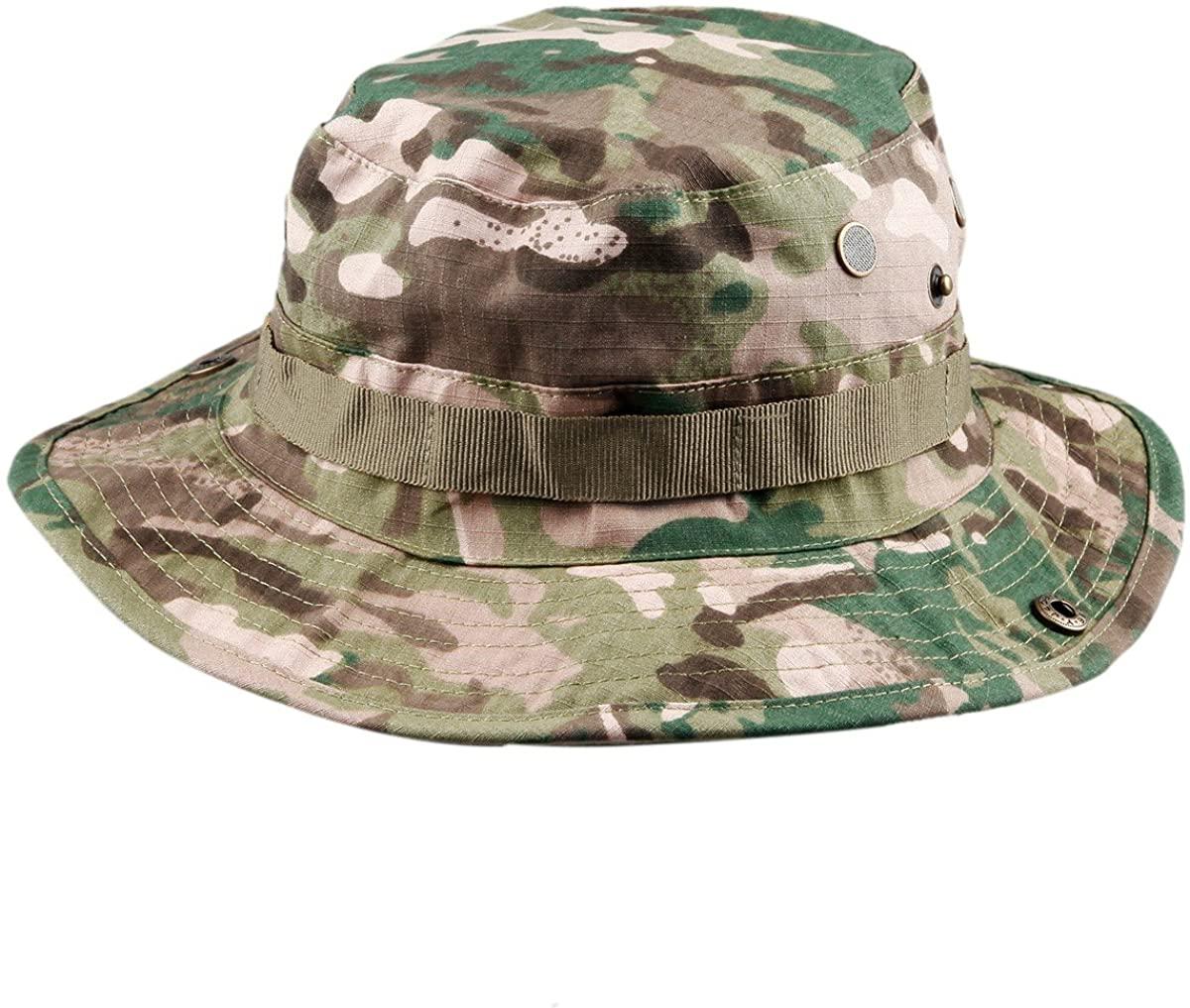 squaregarden Military Camo Fishing Boonie Hat Hunting Bucket Hats