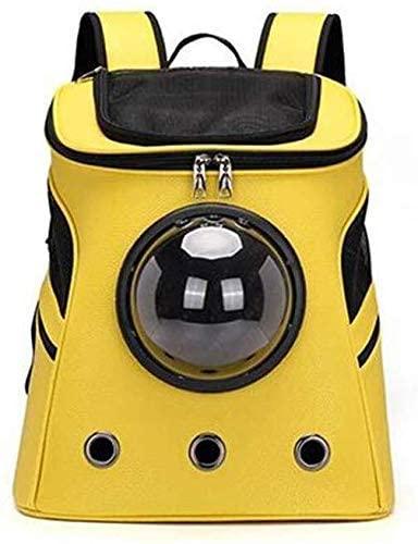 He-lanshangmaobu Large pet Bag Out Portable Shoulder Breathable Space Bag (Color : Yellow) (Color : -) pet Supplies