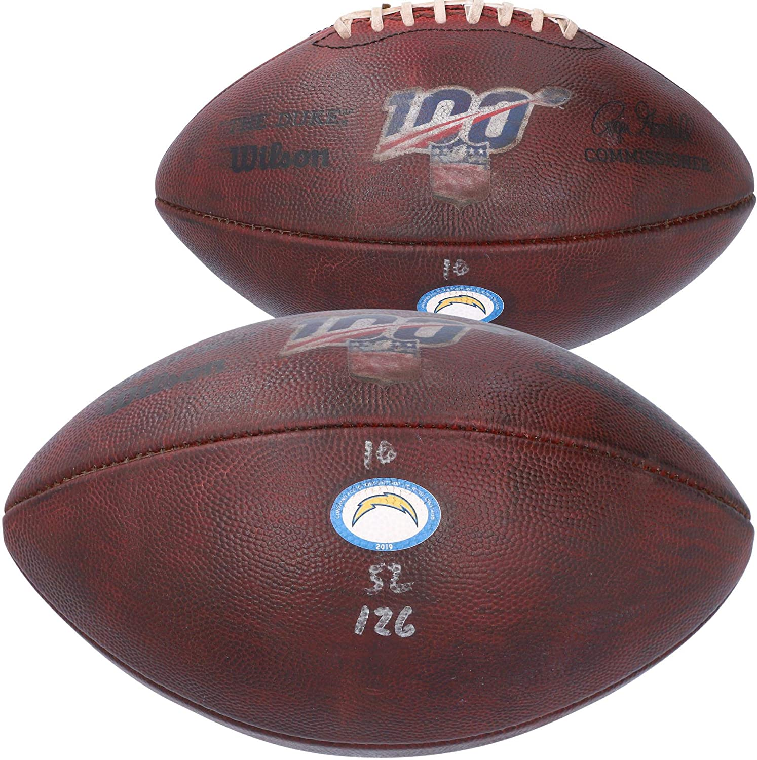 Los Angeles Chargers Game-Used Football vs. Chicago Bears on October 27, 2019 - Fanatics Authentic Certified
