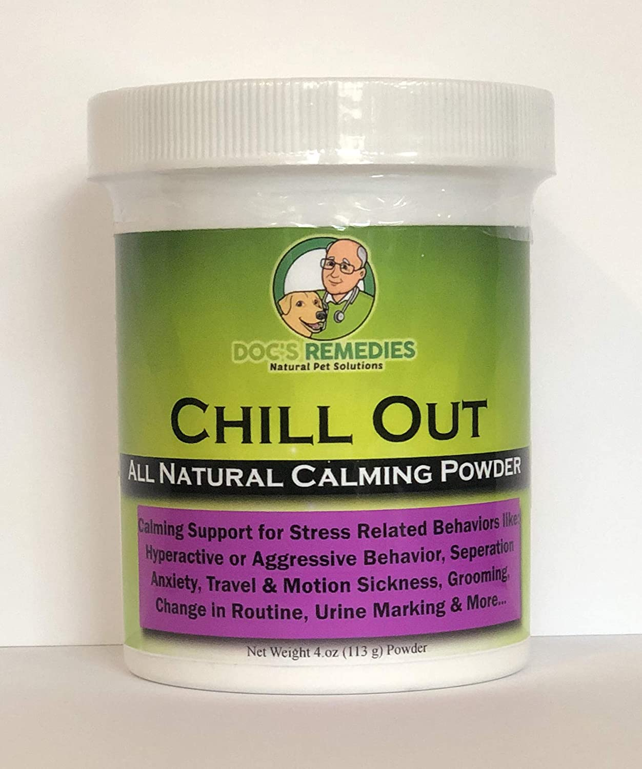 Doc's Remedies Chill Out Calming Supplement - 4oz Powder