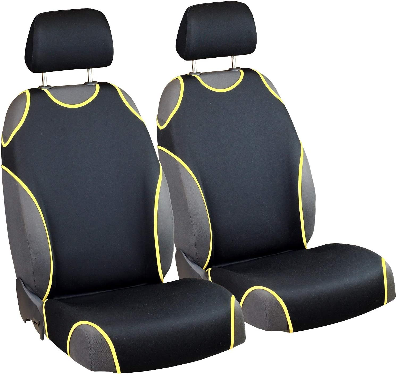 Zakschneider Car Seat Covers for CRV - Front Seats - Color Premium Black & Yellow
