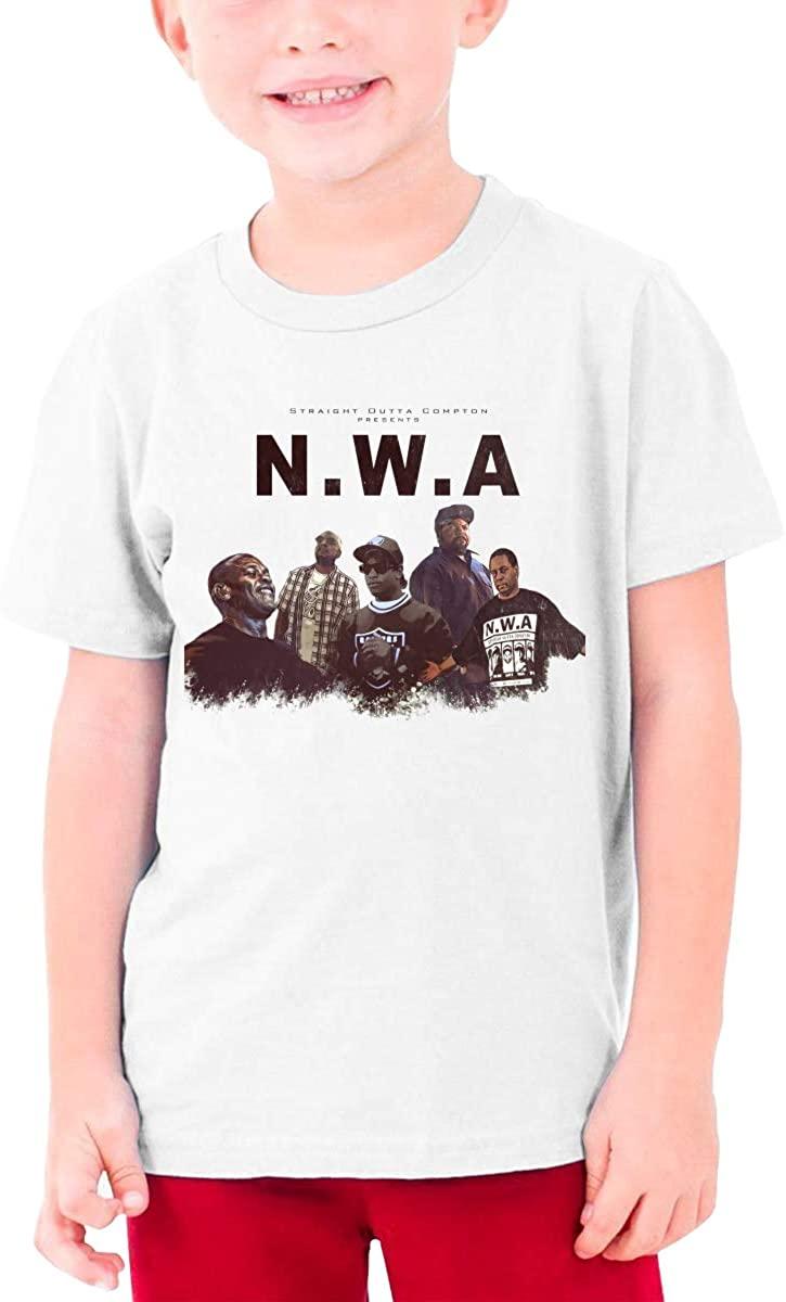 NWA Straight Outta Compton Teenager Boys Girls T-Shirt Short Sleeve Creative Round Neck Top White