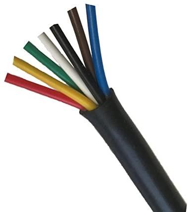 Heavy Duty 14 Gauge 7 Way Conductor Wire RV Trailer Cable Cord, 10'
