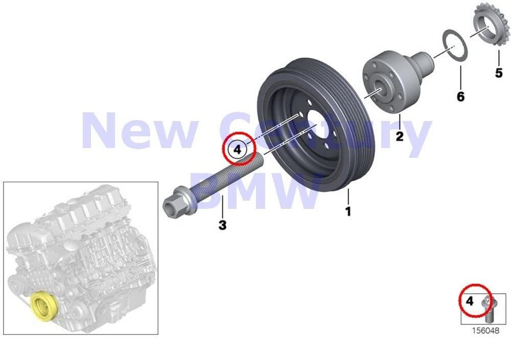 8 X BMW Genuine Belt Drive-Vibration Damper Asa-Bolt M8X16 525i 525xi 530i 530xi 528i 528xi 535i 535xi 530xi 535xi X5 3.0si X5 35iX X6 35iX 128i 135i M Coupé X3 3.0i X3 3.0si X1 28i X1 35iX Z4 3.0i Z4