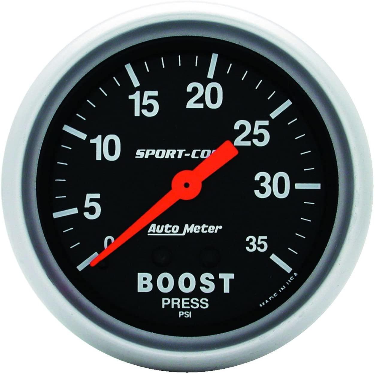Auto Meter 3404 Sport-Comp Mechanical Boost Gauge