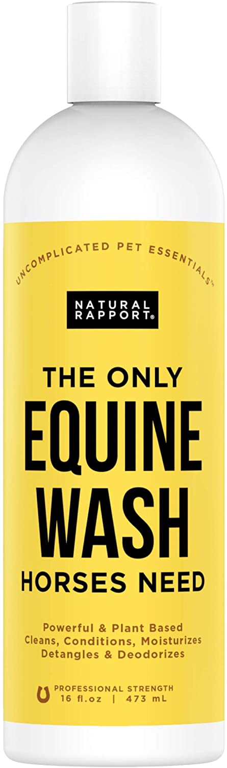 Natural Rapport Horse Shampoo & Conditioner - The Only Equine Wash Horses Need, Natural Rapport - Full Mane and Tail Treatment for Horses, Horse Shampoo/Conditioner (16 fl oz.)