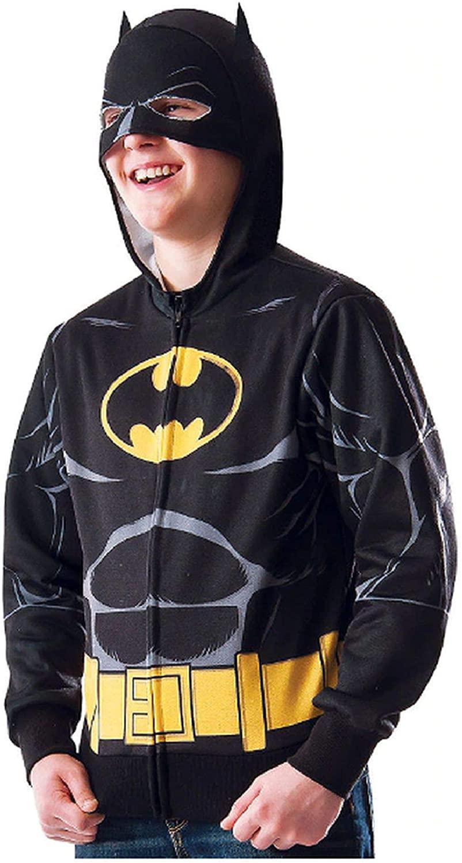 BATMAN Child Zip-Up Hoodie Costume (Large/X-Large) Black