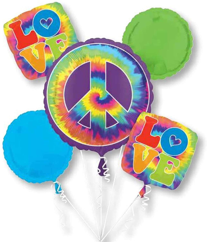 Anagram International 60s Anagram Feeling Groovy Bouquet Foil Balloon, Multicolor