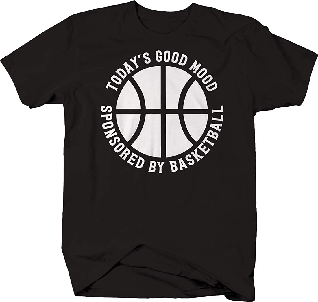 Todays Good Mood Sponsored by Basketball caps Funny Sports Tshirt