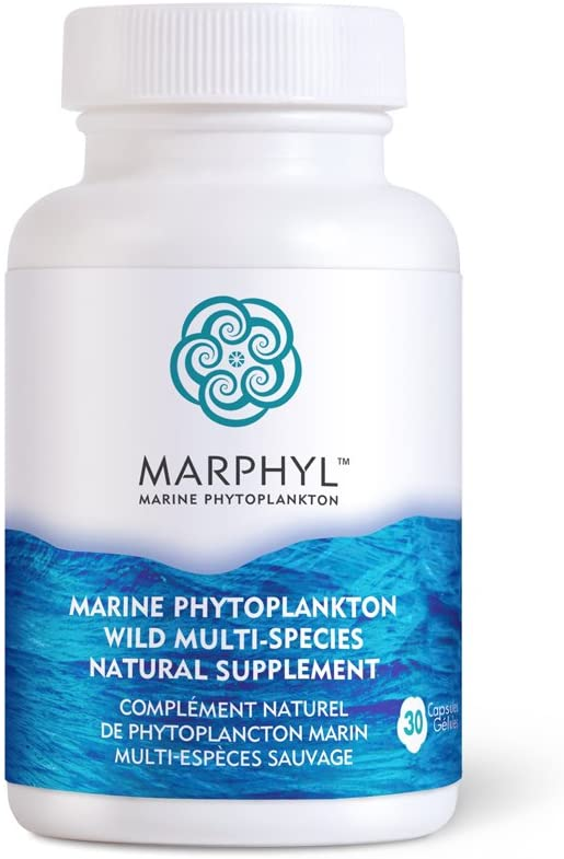 Marine Phytoplankton Wild Multi Species Natural Supplement - 150 mg per Capsule - Organic - 30 Vegan Capsules - from Vancouver Island, Canada