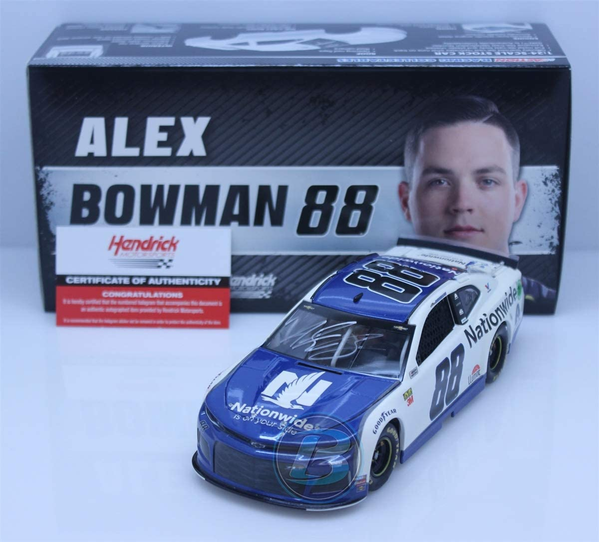 Lionel Racing Alex Bowman Autographed 2019 Nationwide 1:24