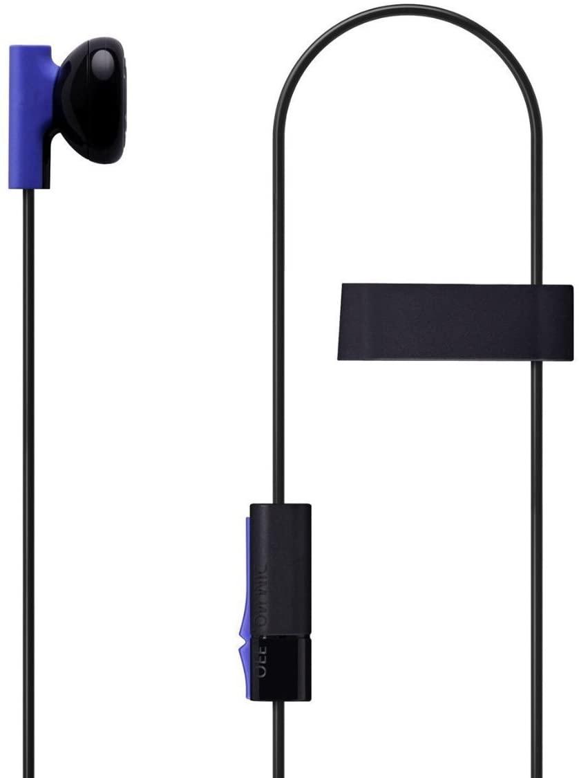 Headset Earbud Microphone Earpiece for PS4 Controller Headphones (Renewed)