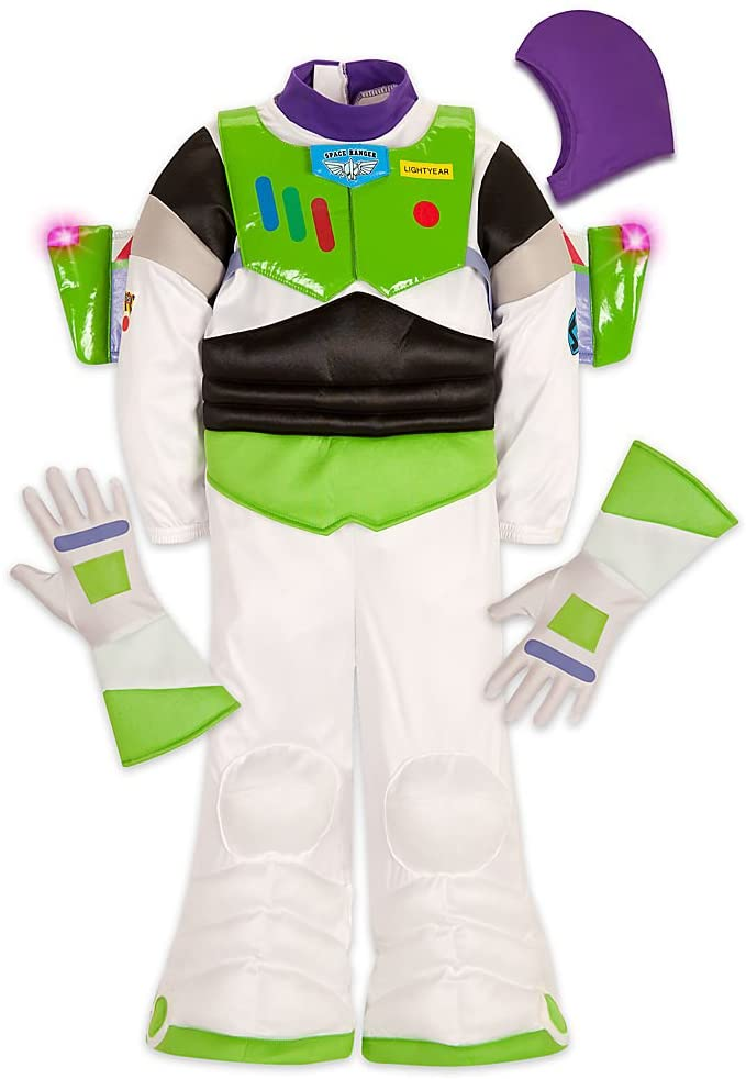 Disney Store Deluxe Buzz Lightyear Halloween Costume Light Up Toy Story (Small 5-6)