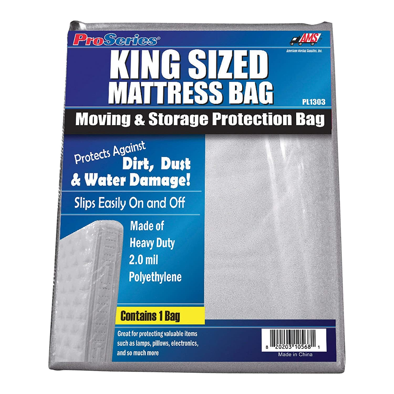 American Moving Supplies ProSeries Mattress Bag - King size bed, Model Number PI1303